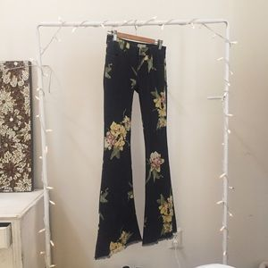 free people floral bali flare jeans
